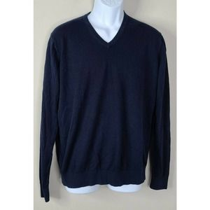 UNIQLO CASHMERE blend SWEATER navy Large